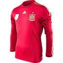 adidas Spain Long Sleeve Home Jersey  World Cup 2014