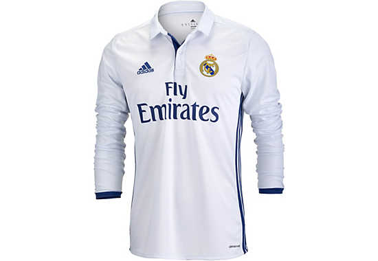 Real Madrid L/S Home Jersey