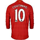 New Balance Philippe Coutinho Liverpool L/S Home Jersey 2016-17