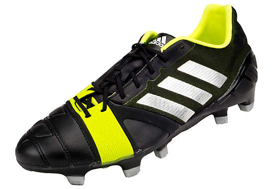 adidas Nitrocharge 1.0 TRX FG Soccer Cleats  Black with Electricity