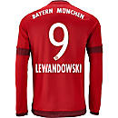 adidas Robert Lewandowski Bayern Munich L/S Home Jersey 2015-16