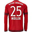 adidas Thomas Muller Bayern Munich L/S Home Jersey 2015