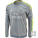 adidas Long Sleeve Real Madrid Away Jersey 2015-16