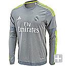 adidas Long Sleeve Real Madrid Away Jersey 2015-16