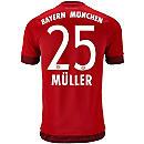 adidas Thomas Muller Bayern Munich Home Jersey 2015-16
