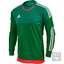 adidas Youth Top Goalkeeper Jersey - Green and White