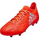 adidas X 16.3 FG Soccer Cleats - Solar Red & Silver Metallic