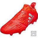 adidas Kids X 16+ PureChaos FG Soccer Cleats - Solar Red & Silver Metallic