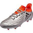 adidas X 16.2 FG Soccer Cleats - Silver Metallic & Core Black