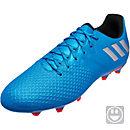 adidas Kids Messi 16.3 FG Soccer Cleats - Shock Blue & Silver Metallic