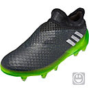 adidas Kids Messi 16+ Pureagility FG Soccer Cleats - Dark Grey & Metallic Silver