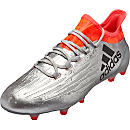 adidas X 16.1 FG Soccer Cleats - Silver Metallic & Core Black