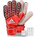adidas Youth ACE Fingersave Goalkeeper Glove - Red and Orange