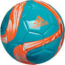 adidas Conext15 Glider Soccer Ball - Cyan and Solar Orange