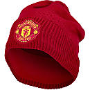 adidas Manchester United Beanie - Real Red & Power Red