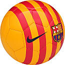 Nike Barcelona Supporters Soccer Ball - Gold and Red