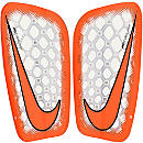 Nike Mercurial Flylite Shin Guards - Clear & Total Orange