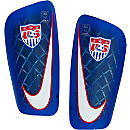 Nike USA Mercurial Lite Shin Guards - Blue/Red