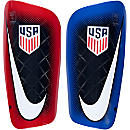 Nike Mercurial Lite Shinguards - USA - Dark Obsidian & Red