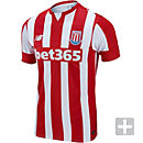 New Balance Stoke City Home Jersey 2014-15 - Red and White
