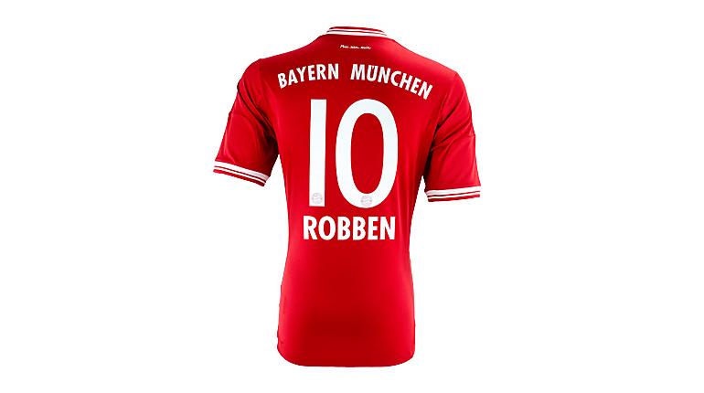 adidas Bayern Munich Robben Home Jersey 2013-2014