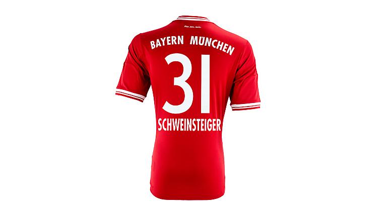 adidas Bayern Munich Schweinsteiger Home Jersey 2013-2014