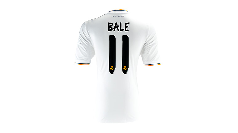 adidas Real Madrid Bale Home Jersey 2013-2014