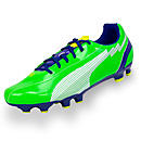 Puma evoSPEED 5 FG Soccer Cleats  Jasmine Green with White