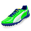 Puma evoSPEED 5 TT Turf Soccer Shoes  Green with White