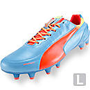 Puma evoSPEED 1.2 Leather FG Soccer Cleats  Sharks Blue with Peach