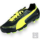 Puma Youth evoSPEED 5.2 FG Soccer Cleats  Black with Fluo Yellow