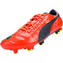 Puma evoPOWER 1 FG Soccer Cleats  Fluro Peach with Ombre Blue