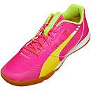 Puma evoSPEED Sala Indoor Shoes - Pink and Yellow