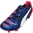 Puma evoPOWER 1.2 FG Soccer Cleats - Peacoat and White