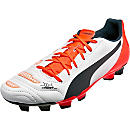 Puma evoPOWER 4.2 FG Soccer Cleats - White and Black