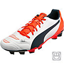 Puma Kids evoPOWER 4.2 FG Soccer Cleats - White & Black