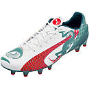 Puma evoSPEED 1.3 Graphic FG Soccer Cleats - White  and Green
