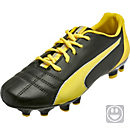 Puma Kids Marco 11 FG Soccer Cleats - Black and Yellow