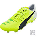 Puma Youth evoACCURACY 1 MB FG Soccer Cleats - Yellow