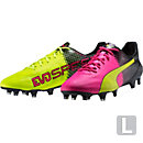 Puma evoSPEED SL II FG - Leather - Tricks - Pink Glow & Safety Yellow