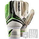 Reusch Youth RE:CEPTOR SG Finger Support Goalkeeper Gloves - Black and Green