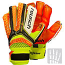 Reusch Pulse Deluxe G2 Ortho-Tec Goalkeeper Gloves - Black & Shocking Orange