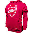 Nike Arsenal Core Hoodie  Artillery Red with White