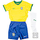 Nike Lil Boys Brazil Home Kit  World Cup 2014