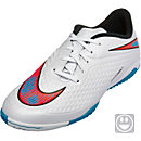 Nike KIds Hypervenom Phelon IC Indoor Shoes - White and Red