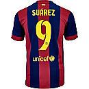 Nike Suarez Barcelona Home Jersey 2014-15