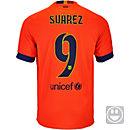 Nike Kids Suarez Barcelona Away Jersey 2014-15