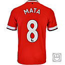 Nike Kids Mata Manchester United Home Jersey 2014-15