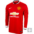 Nike Manchester United Long Sleeve Home Jersey 2014-2015