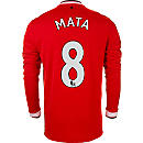 Nike Mata Manchester United L/S Home Jersey 2014-15